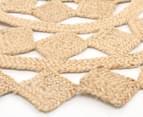 Tessellated Star 150cm Handmade Jute Rug - Natural 2