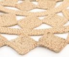 Tessellated Star 200cm Handmade Jute Rug - Natural 2
