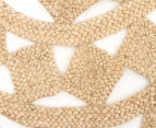 Tessellated Star 200cm Handmade Jute Rug - Natural 3