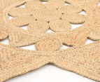 Star-Shaped 240cm Handmade Jute Rug - Natural 2