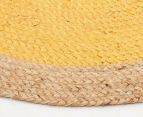 Contemporary 200cm Handmade Jute Rug - Yellow 3