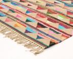 Bohemian 320x230cm Handmade Cotton & Jute Rug - Multi 2