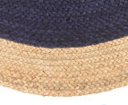 Contemporary 120cm Handmade Jute Rug - Navy 3