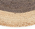Contemporary 120cm Handmade Jute Rug - Charcoal 3