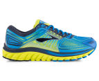 Brooks Men's Glycerin 13 Shoe - Electric Blue Lemonade/Lime Punch/Dress Blues 1