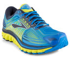 Brooks Men's Glycerin 13 Shoe - Electric Blue Lemonade/Lime Punch/Dress Blues 2