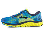 Brooks Men's Glycerin 13 Shoe - Electric Blue Lemonade/Lime Punch/Dress Blues 3