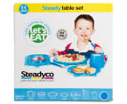 Steadyco Let's Eat 11-Piece Steady Table Set - Blue 6