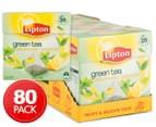 4 x Lipton Aromatic Lemon Green Tea Bags 20pk 1