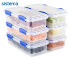 Sistema 1.2L Klip It Deli Storer Container 6-Pack - Clear/Blue 1
