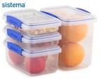 Sistema Klip It Food Storage Container 4-Pack - Clear/Blue 1