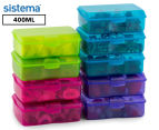 Sistema 400mL Klipo Rectangular Coloured Container 9-Pack - Multi 1