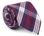 Ben Sherman Men's Plain Tie - Purple 1