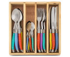 French-Inspired Replica Château 24-Piece Cutlery Set - Pastel 1