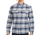 OBEY Men's Cobain Flannel Shirt - Blue 2