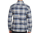 OBEY Men's Cobain Flannel Shirt - Blue 5