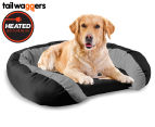 Heated Oval Pet Bed with Cushioned Walls by Tail Waggers - 85x63cm For Large Dogs 1