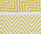 Dreamy Cotton Flatweave 220x150cm Reversible Rug - Yellow 5