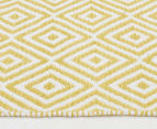 Dreamy Cotton Flatweave 270x180cm Reversible Rug - Yellow 3