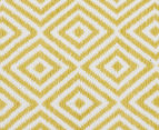Dreamy Cotton Flatweave 270x180cm Reversible Rug - Yellow 4
