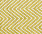 Dreamy Cotton Flatweave 220x150cm Reversible Rug - Yellow 4