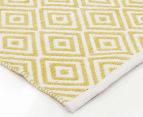 Dreamy Cotton Flatweave 220x150cm Reversible Rug - Yellow 2