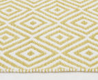 Dreamy Cotton Flatweave 220x150cm Reversible Rug - Yellow 3