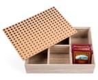 Wooden 24cm Cork-Top Tea Box 2