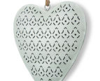 Set Of 3 Metallic 14x15cm Pastel Hearts Wall Hangings 5