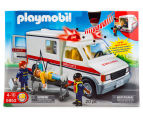 Playmobil Rescue Ambulance w Light & Sound Building Set 2