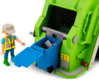 Playmobil Green Recycling Truck Building Set 4
