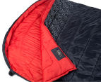 Caribee Moonshine Double Sleeping Bag - Red/Charcoal 2