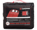 Caribee Moonshine Double Sleeping Bag - Red/Charcoal 6