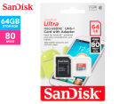 SanDisk Ultra 64GB MicroSDHC UHS-I Card w/ Adapter 1
