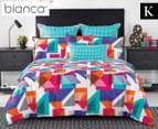 Bianca Macen King Bed Quilt Cover Set - Multi 1