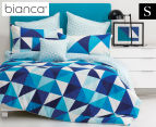 Bianca Cruze Single Bed Quilt Cover Set - Blue 1