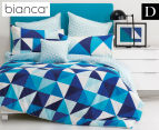 Bianca Cruze Double Bed Quilt Cover Set - Blue 1