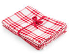 RANS Milan Stripe & Check Tea Towels 5-Pack - Red 2