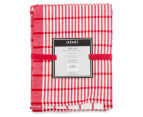 RANS Milan Stripe & Check Tea Towels 5-Pack - Red 6