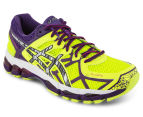 ASICS Women's GEL-Kayano 21 Lite-Show Shoe - Flash Yellow/Silver/Purple 2