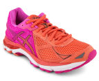 ASICS Women's GT-2000 3 Shoe - Coral/Hot Pink/Black 2