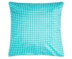 Bianca Macen European Pillowcase - Turquoise/White 1