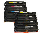 Pro Colour #201A Series Premium Generic Toner Cartridges For HP Printers - Assorted 8-Pack 1