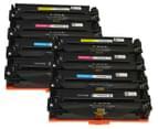 Pro Colour CF400X #201X Series Premium Toner Cartridges For HP Printers - Assorted 8-Pack 1