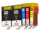 934XL Series Compatible Inkjet Cartridge Set Plus Extra Black 5-Pack For HP Printers 1