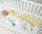 The Gro Company Buzz-y Bee 2.5 Tog Travel Sleep Bag - Yellow/Green 3