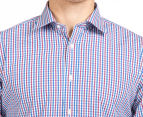 Ben Sherman Men's Check Shirt - Red/Blue 6