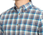Ben Sherman Men's Oxford Multi Check Shirt - Ash 6
