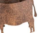 Cow Pot Planter - Rust 5
