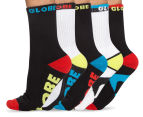 Globe Men's Size 7-11 Destroyer Crew Sport Socks 5-Pack - Assorted 1